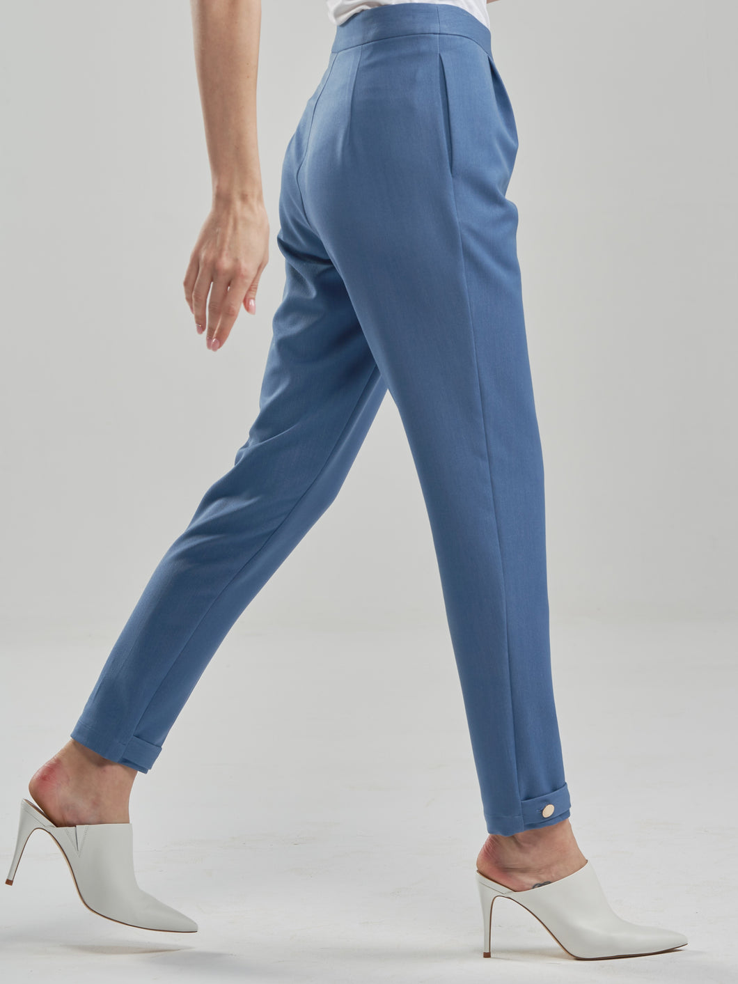 Slim Cut Denim Trousers