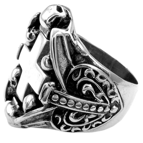 SKULL CROSS SHIELD JEWINGER