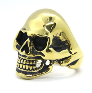 ANATOMICAL GOLD SKULL