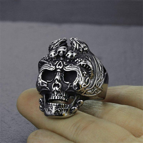 3 DEMONS SKULL HEAD JEWINGER