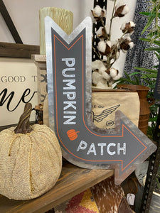 Pumpkin Patch Metal Sign