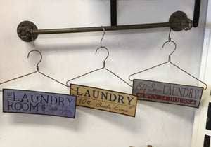 Laundry Room Hanger Decor