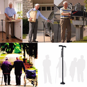 LED FOLDING WALKING STICK