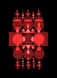 red and pink black Geometric fine art print