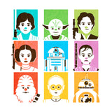 star wars poster full color limited edition screenprint