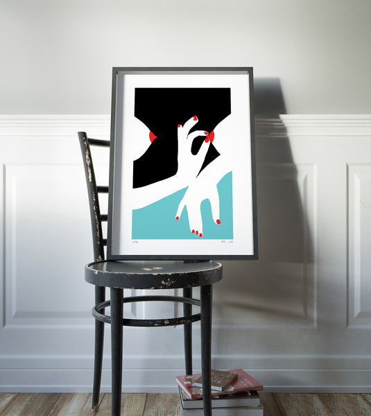 metoo, hands, woman, feminine, Tits, breast, modern art, pop art, geometric, paper cut, Collage, wall deco, wall art, israeli art, limited, affordable art