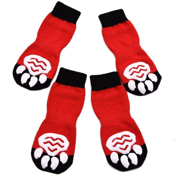Anti-Slip Dog Socks Traction Control for Indoor Wear, Paw Protection - DogSmart.ie