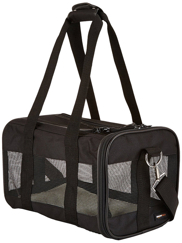 Basics Black Soft-Sided Pet Dog Travel Carrier - DogSmart.ie