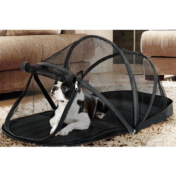 Portable Dog House Cage for Small Dogs with Mosquito Net Tent - DogSmart.ie