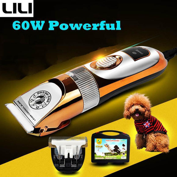 60W Professional Pet Dog Hair Trimmer Grooming Clippers - DogSmart.ie