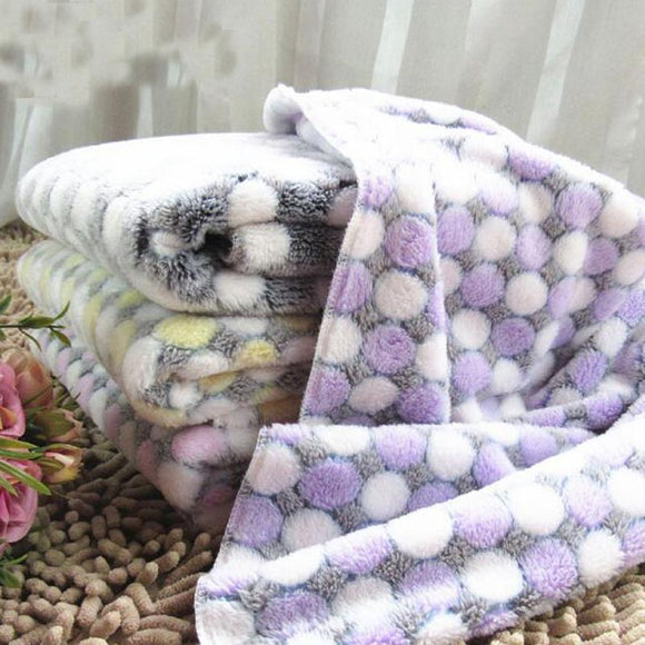 Soft Flannel Pet Dog Blanket Dots Printed Breathable - DogSmart.ie