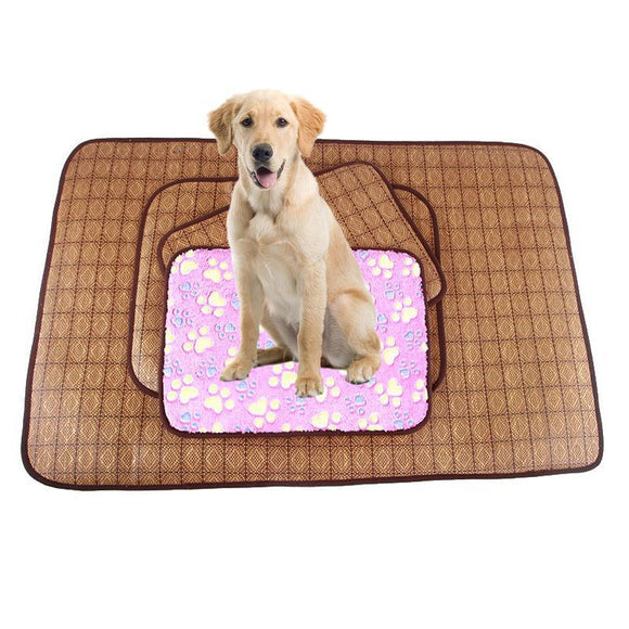 2 in 1 Bamboo Cooling Dog Mat For Summer - DogSmart.ie