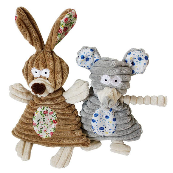 Animal Character Puppy Chew Squeaker Squeaky Plush Sound - DogSmart.ie