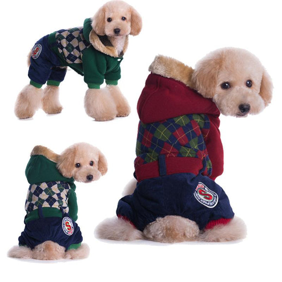 Plaid Dog 100% Cotton Coat for Small Dogs - DogSmart.ie