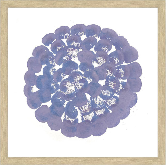 FLOWERS CIRCLE, LIGHT PURPLE BLUE - 30 x 30 cm