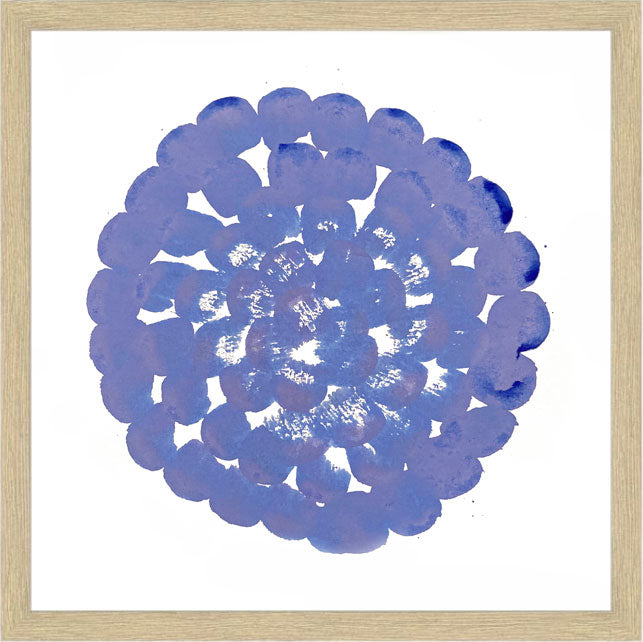 FLOWERS CIRCLE, HOT BLUE - 30 x 30 cm