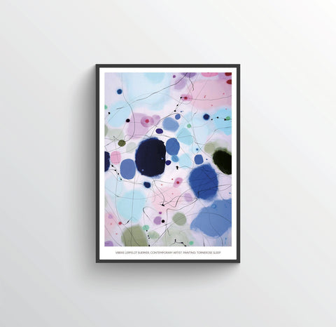 Kunstplakat/art poster: TORNEROSE SLEEP, 50 x 70 cm