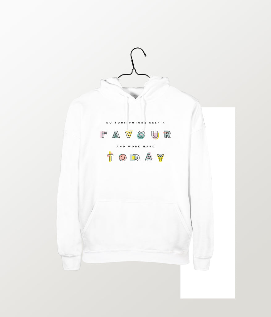 White Quote Hoodie
