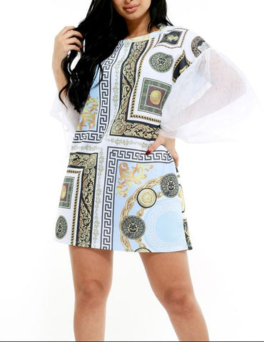 Greece Shirt Dress/ Blouse