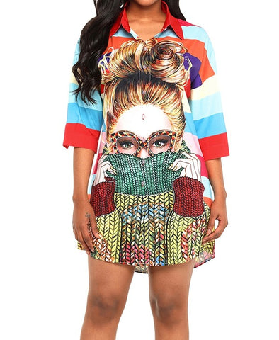 Face It Shirt Dress