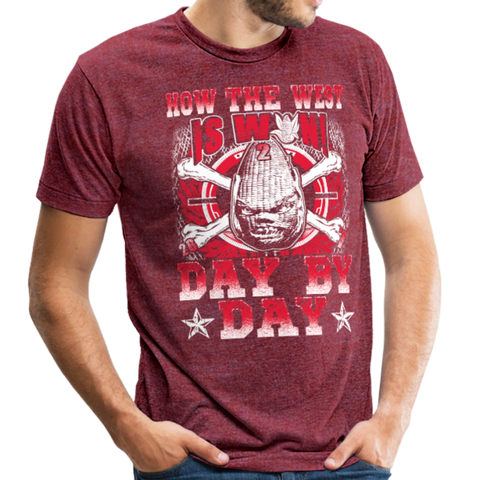 Image of Unisex Tri-Blend T-Shirt - heather cranberry