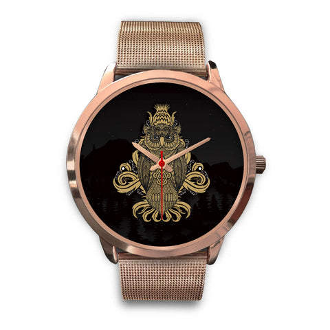 Image of Beautiful Owl Rose Gold Watch