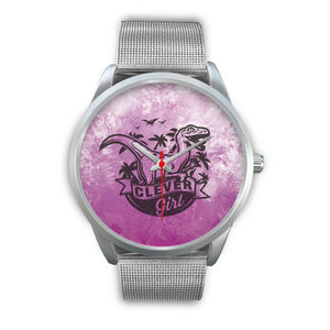 Clever Girl Dino Silver Watch
