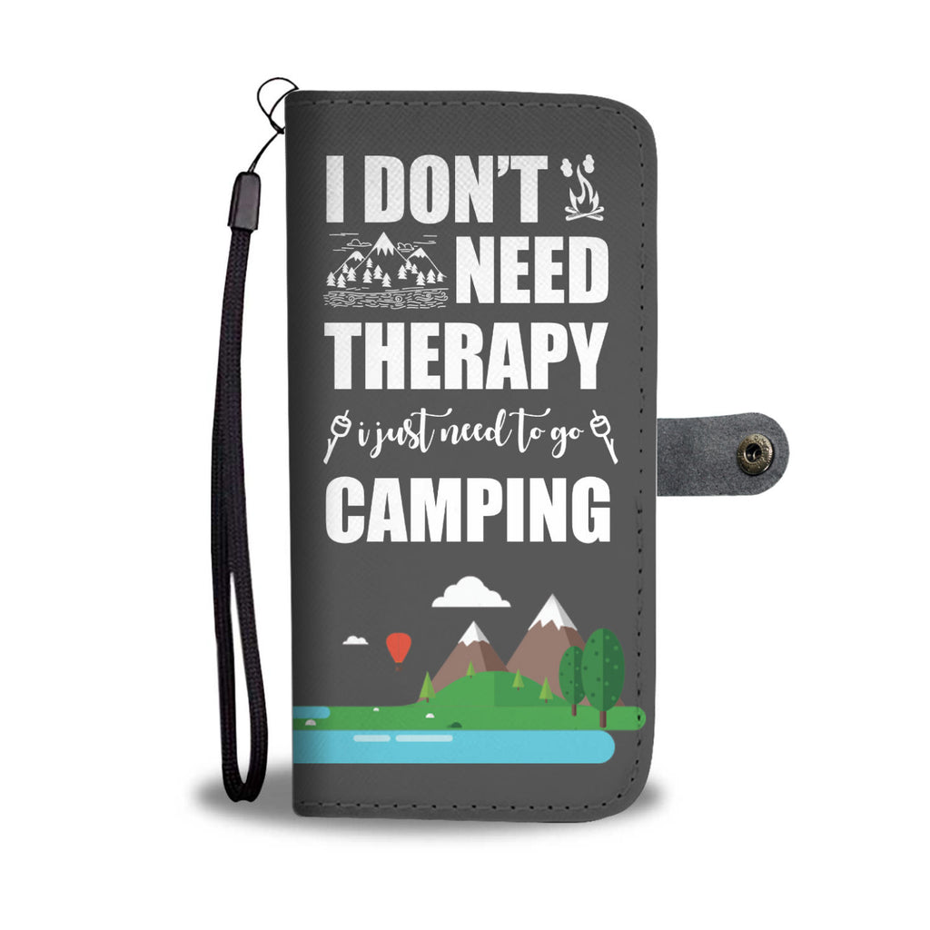 No Therapy Go Camping Wallet Case