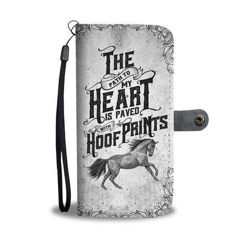 Image of Special Heart Paved With Hoof Prints Wallet Case