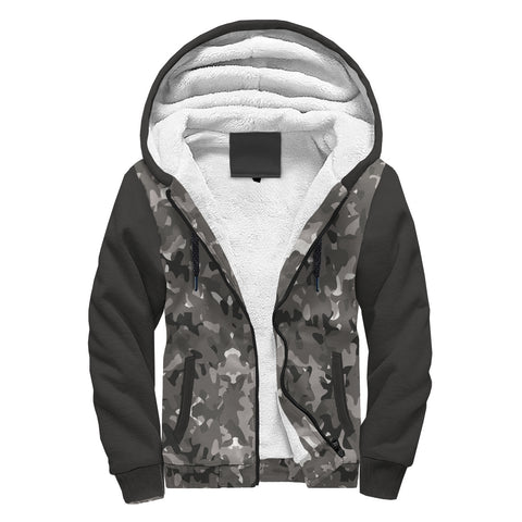 Image of Awesome Gray Camo Sherpa Hoodie