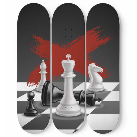 Image of Awesome Chess Skateboard Wall Art