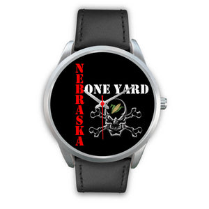Nebraska Bone Yard Silver Watch