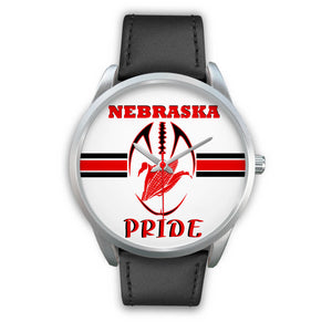 Nebraska Pride Silver Watch