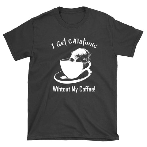 Cute Catatonic Coffee Unisex T-Shirt