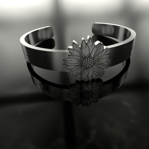 Image of Beautiful Wild And Free Sunflower Silver Ring