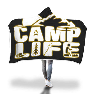 Camp Life Hooded Blanket