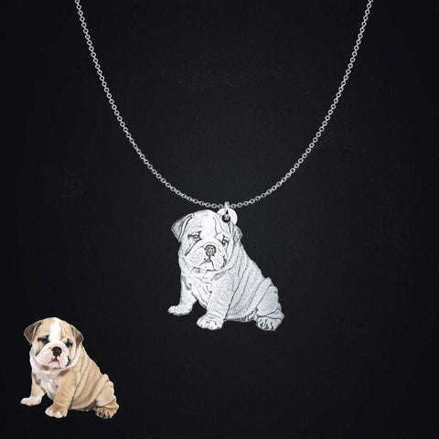 Image of Personalized Photo Upload Silhouette Pendant Necklace