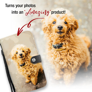 PERSONALIZED Poodle Wallet Phone Case