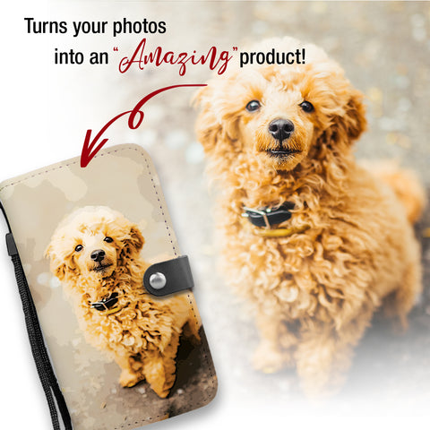 Image of PERSONALIZED Poodle Wallet Phone Case