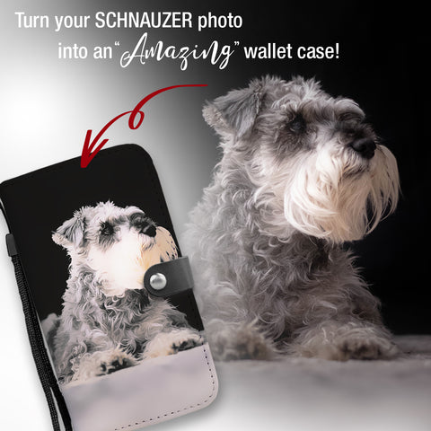Image of PERSONALIZED Schnauzer Wallet Case