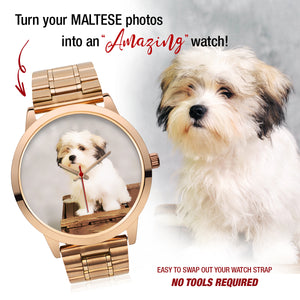 PERSONALIZED Maltese Custom Watch