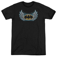 Batman - Steel Wings Logo Adult Heather