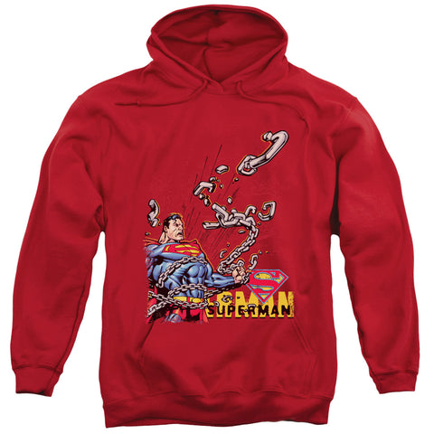 Superman - Breaking Chains Adult Pull Over Hoodie