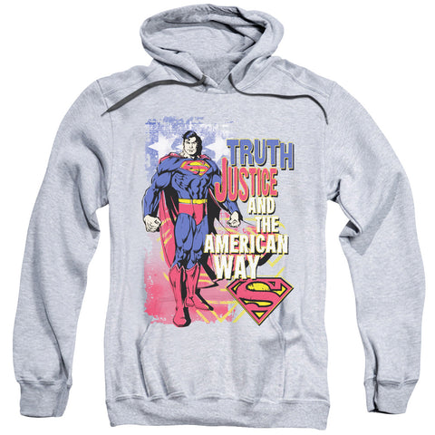 Superman - Truth Justice Adult Pull Over Hoodie