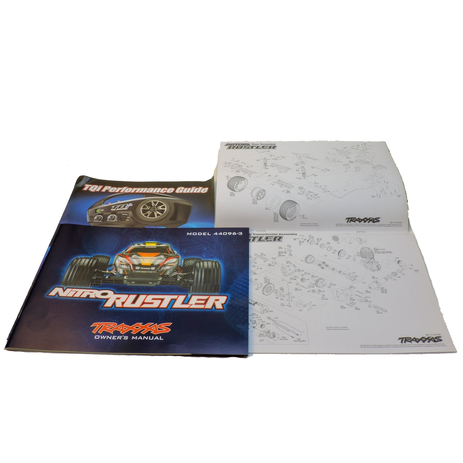 New Traxxas Nitro Rustler 44096 3 Owners Manual Parts List Diagram For Because Some May Be Removed From Assembled Models Minor Markings Or Factory Filled Fluids Present