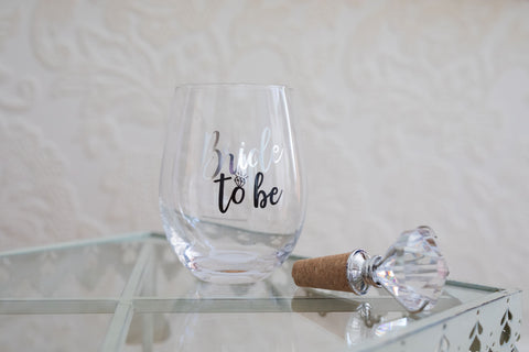 Bride To Be Wine Glass Set