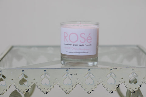 Hamptons Handpoured Rosé Candle