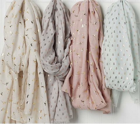 Tickled Pink Printed Scarves