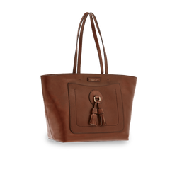 The Bridge Shopper Handbag - Colour 14 Chestnut Brown - Lucks of Louth