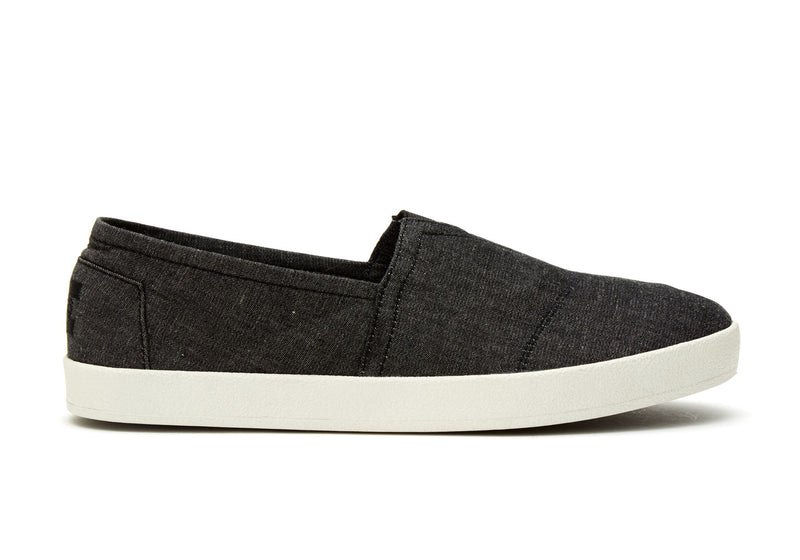 TOMS Avalon - Black Chambray - Lucks of Louth